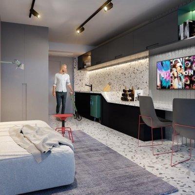 Living dos Studios de 21m²