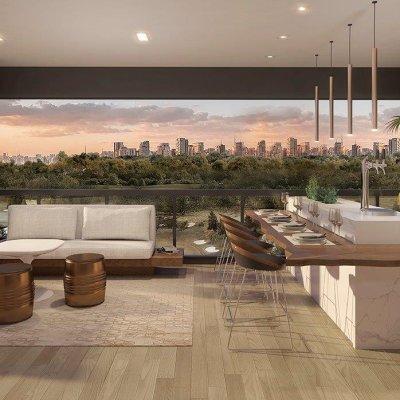 Living e Terraço do Apartamento de 154m²