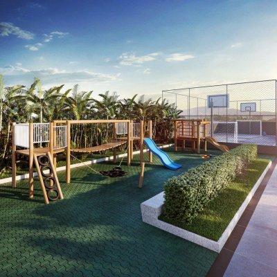Playground e Quadra Poliesportiva