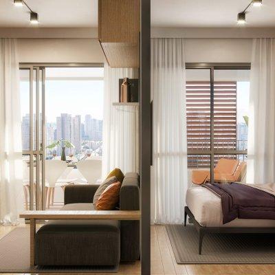 Living  1 Dorm de 36m²