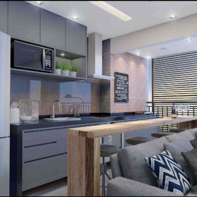 Living do Apartamento de 46m²