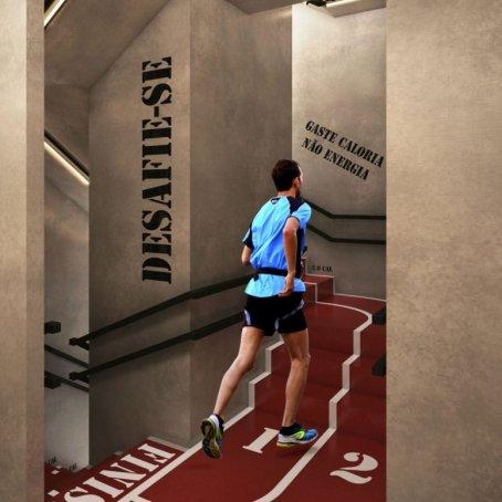 Escada com Contador de Calorias