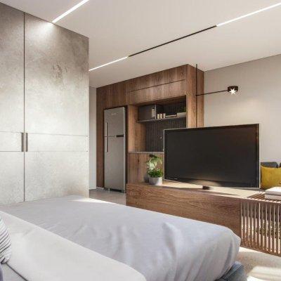 Living do Apartamento de 35m²