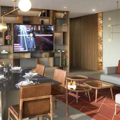 Living e Terraço do Apartamento de 142m²