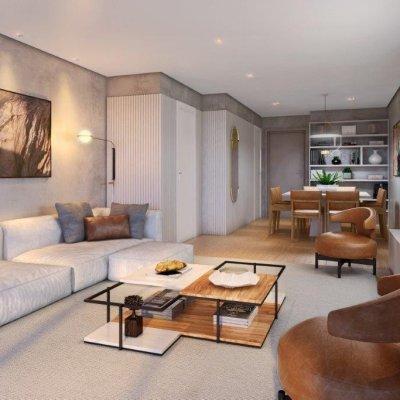 Living do Apartamento de 122m²